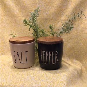 Rae Dunn SALT PEPPER Cellar Set